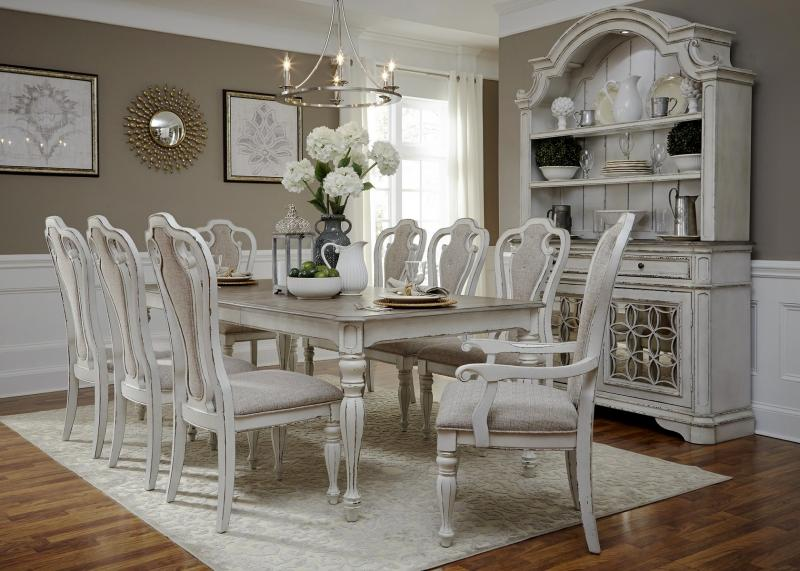 Elizabeth White Dining Room Set $4750